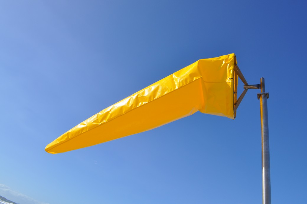 12 Foot Windsock White Or Yellow Series 5 Heavy Duty